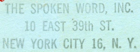 the spoken word, inc.: Book Trade, Vintage Book, Trade Labels