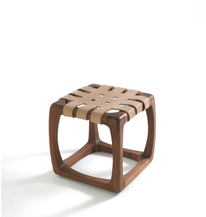 Jamie Durie; Wood and Leather 'Bungalow' Stool for Riva 1929, 2013.
