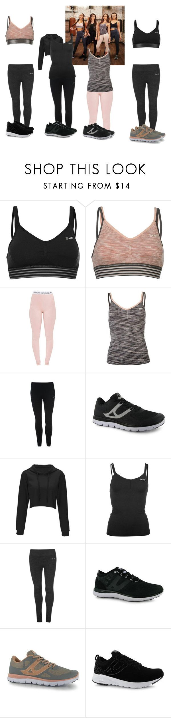 """Little Mix USA PRO"" by jamiehemmings19 ❤ liked on Polyvore featuring USA Pro"