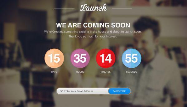 Launch Page by tara singh, via Behance