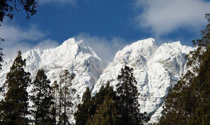 Cordillera de los Andes nevada.
