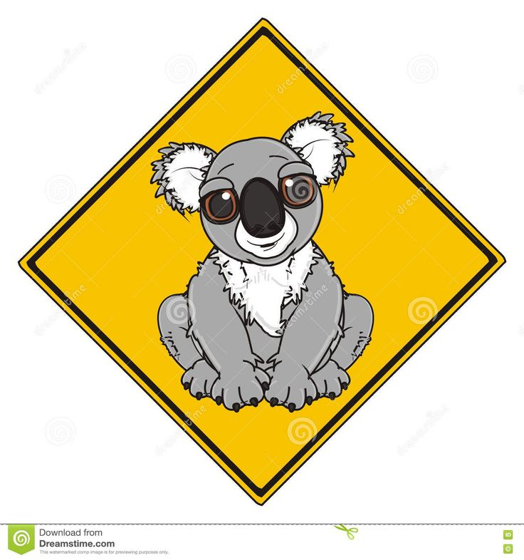 road-sign-koala-yellow-square-gray-78519069.jpg (1300×1390)