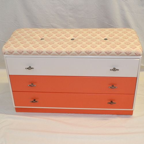 Painted Chest With Upholstered Top