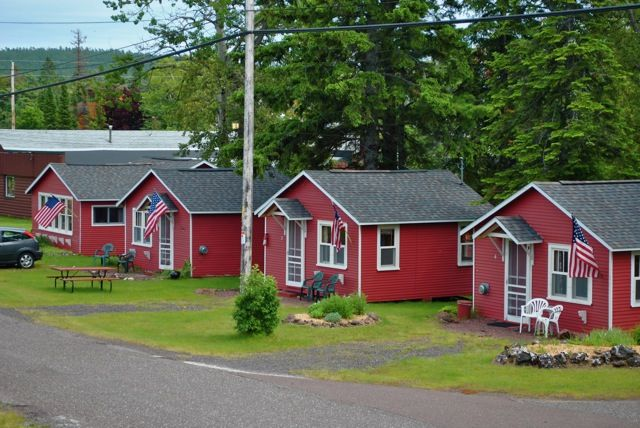 Cottages at the Bella Vista Motel in Copper Harbor, MI (Upper Peninsula). This is a clean, very affordable place to crash in Copper Harbor. Read my review here: http://www.thingstodointheup.com/bellavista/