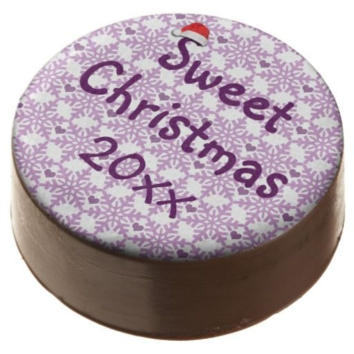 Sweet Christmas Snowflake Pattern / Chocolate Covered Oreo - Custom date! #fomadesign
