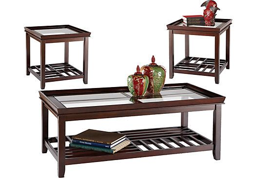 picture of Santos Espresso 3 Pc Table Set from Table Sets Furniture