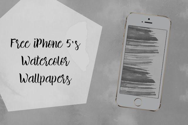 DLOLLEYS HELP: Free iPhone 5's Watercolor Wallpaper