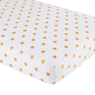 Marine Queen Crib Fitted Sheet (Gold Dot) | LandOfNod