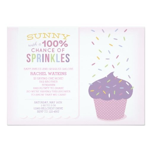 best cupcake baby shower invitations images on, Baby shower invitation