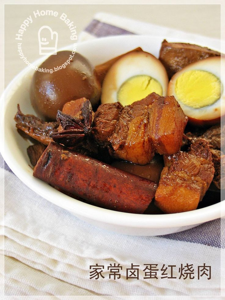 (not really healthy but) Chinese Braised Pork Belly with egg