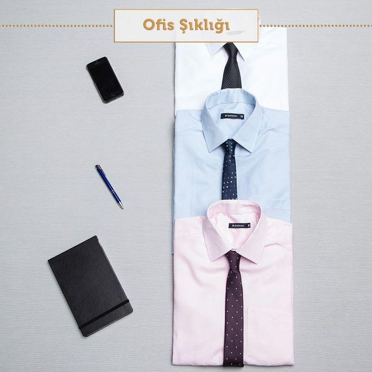 Biz cuma günü için gömlek ve kravat seçimimizi yaptık. Peki ya sen? #beyaz #gömlek #pembe #mavi #ofis şıklığı #stil #çalışan #kombin #tarz #instafashion #instamood #instastyle #mood #boys #SenDeRahatla #DeFacto #white #shirt #pink #blue #office #style #running