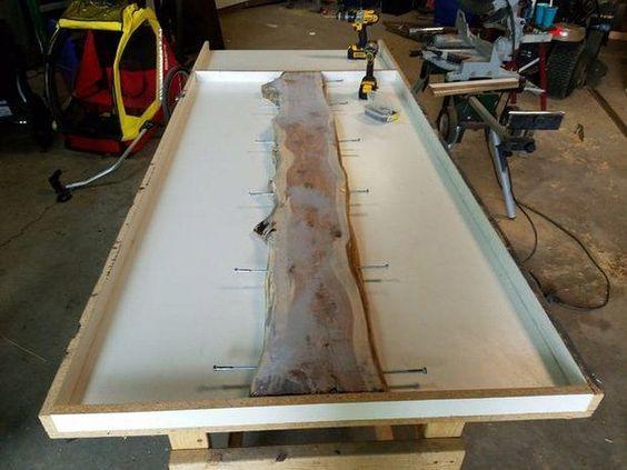Tisch Aus Beton Und Zedernholz Zedernholz