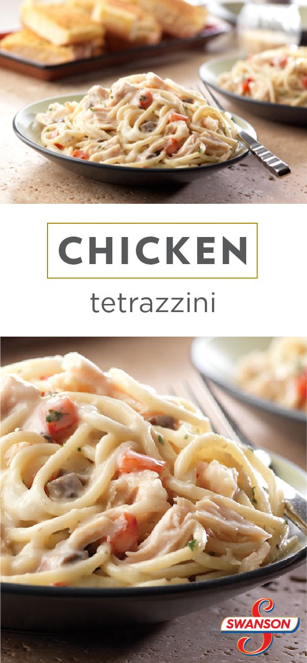 This Chicken Tetrazzini recipe takes just 25 minutes to make. With luscious pasta coated in Parmesan cheese and a creamy mushroom sauce, your family won't be able to get enough of this delicious dinner dish.