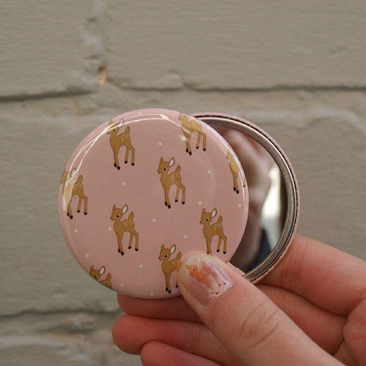 Fawn pocket mirror