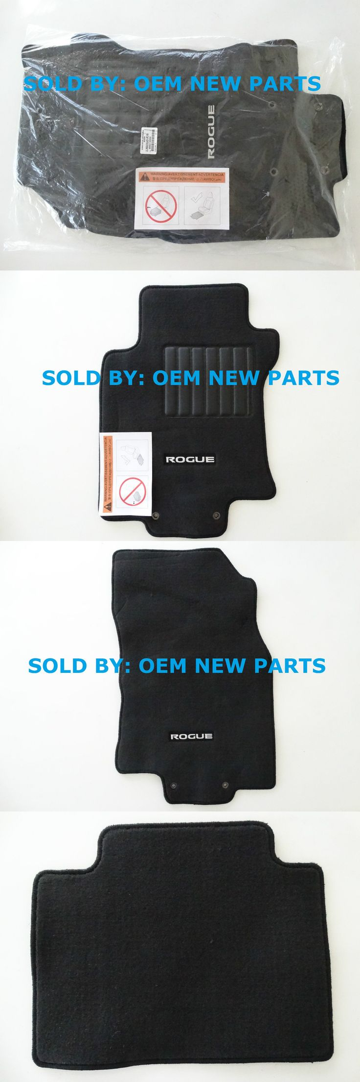 Auto parts general 2014 2015 2016 nissan rogue black carpeted floor mats front and
