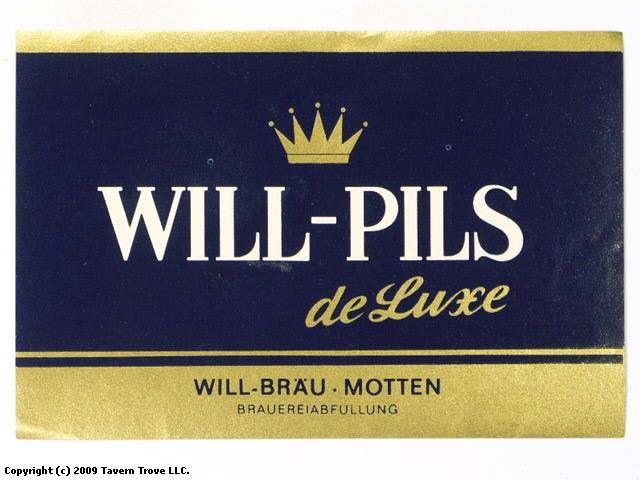 Labels Will Pils Hersteller Will Brau Aka Of Brauerei Will Motten Bavaria Germany