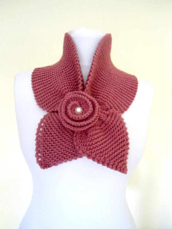 Thulian pink  neckwarmershawlscarfknittingHoliday  by likeknitting, $31.99