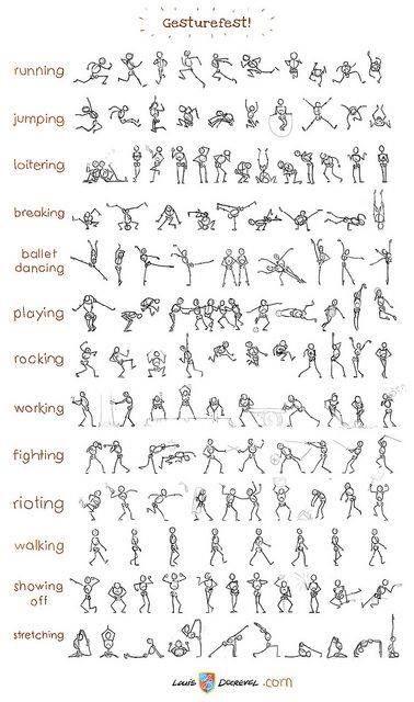 pose reference sheet comics