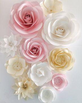 Telón de fondo de flores flores de papel de telón de fondo
