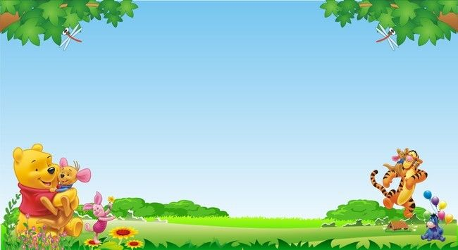 Winnie The Pooh Forest Background: Childrens Day Poster Background Template Daquan In 2020