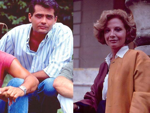 """Tarcisinho, em """"Renascer"""" (1993), e Gloria Menezes, em """"Rainha da Sucata"""" (1990) #DiaDasMães #Tarcisinho #GloriaMenezes"""
