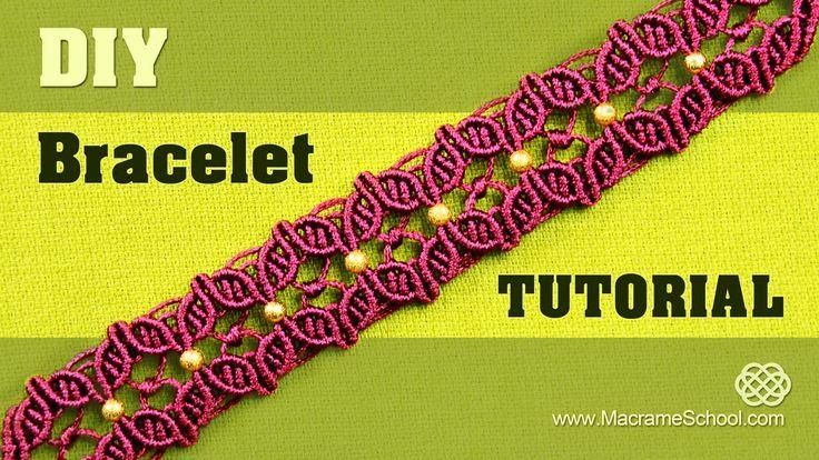 DIY Macramé Flower Petal Bracelet with Beads