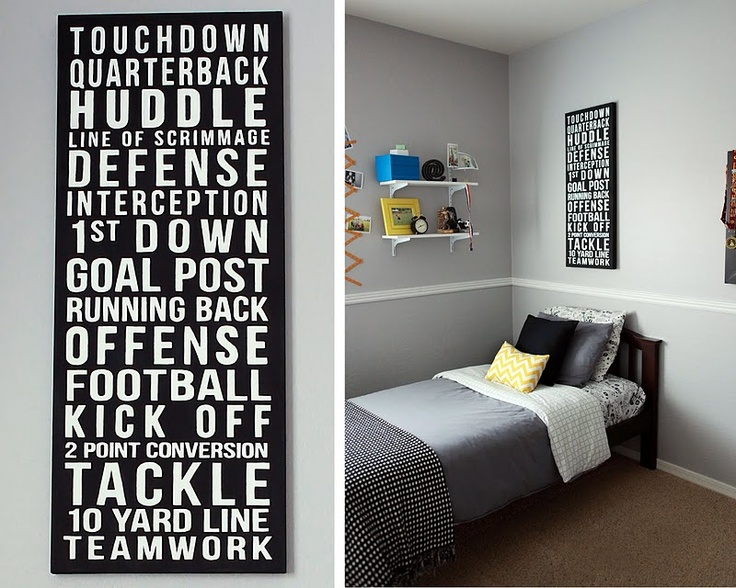 Wish I could figure out how to make this... I would love to put one in Tanner's room for each sport he plays!