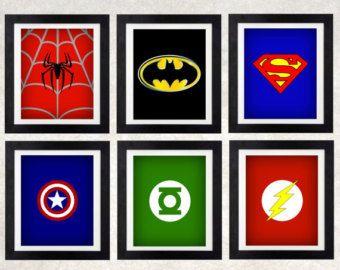 Estampes des super héros chambre wall Decor par AmysSimpleDesigns