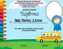 Resultado de imagen para diplomas para preescolar editables