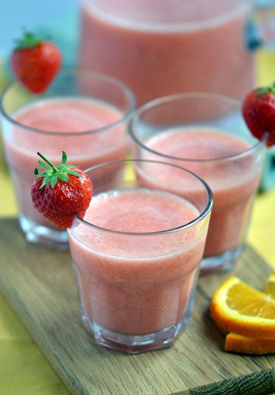 Strawberry, Orange & Rosewater Smoothie
