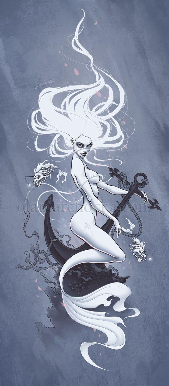 Ghost Mermaid by aleksandracupcake on DeviantArt