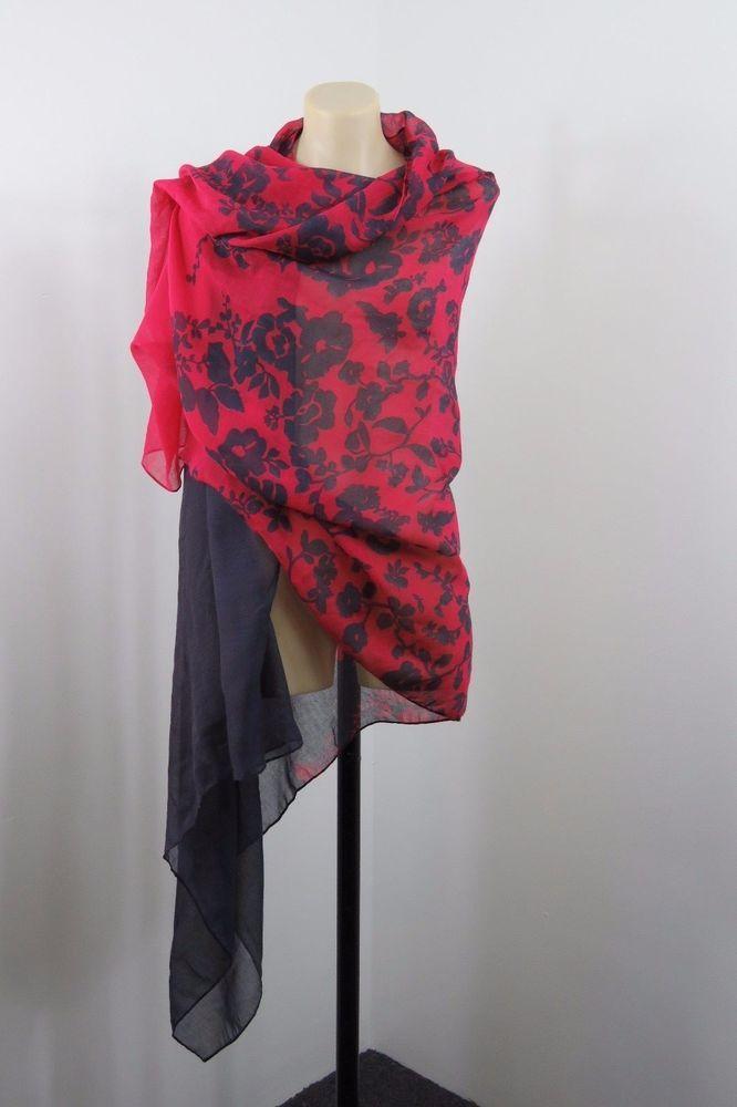 Ladies Floral Scarf Wrap Beach Sarong Boho Chic Retro Layer Festival Red Design #Unbranded #ShawlWrap