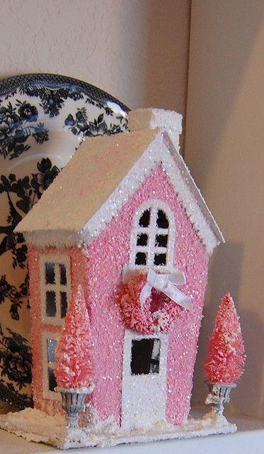 Pink glitter house