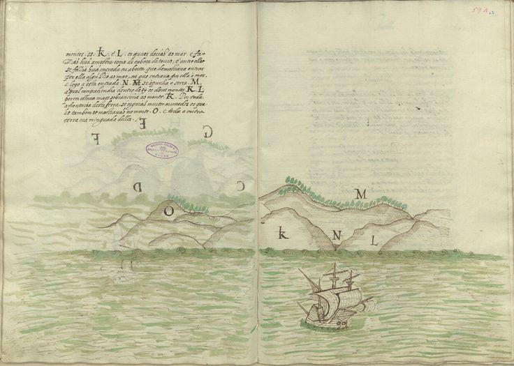 bpe-cod-cxv-1-24_0121-João de Castro (1500-1548) «[Roteiro da Viagem que D. João de Castro fez a primeira vez que foi à India no ano de 1538]». [Anterior 1578]. BPE COD. CXV 1/24
