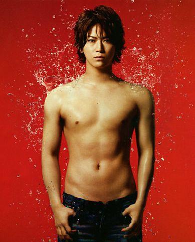 Kazuya Kamenashi (Japanese idle group KATOON). Panasonic men's beauty catalog.
