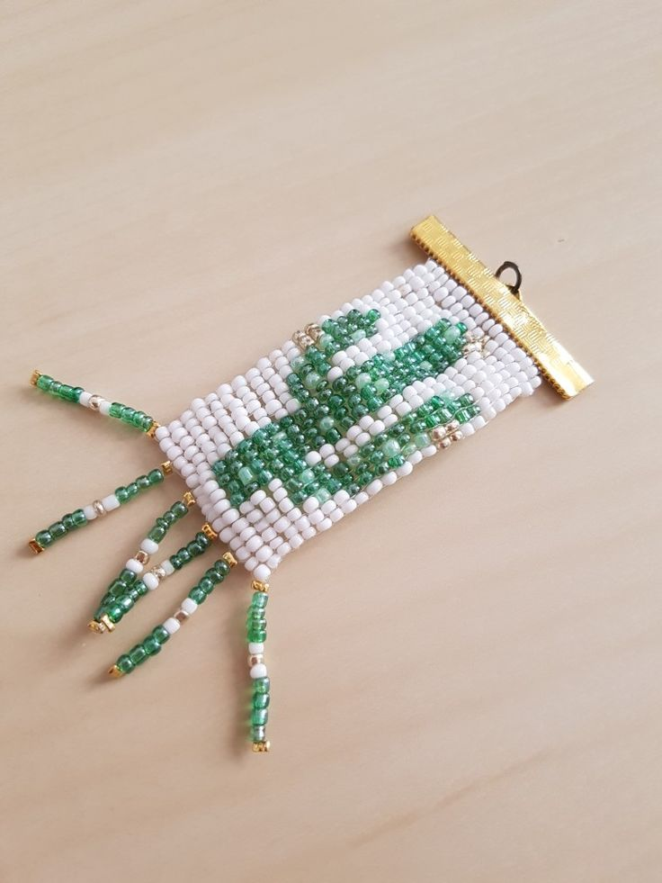 Cactus pendent made from a Hama bead pattern