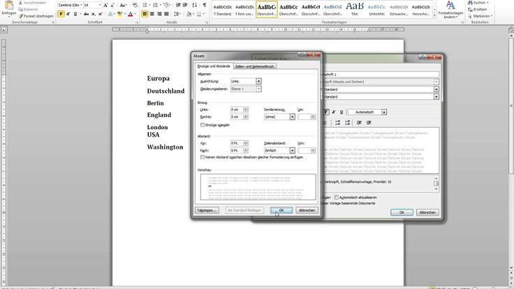 Automatisches Inhaltsverzeichnis in Word 2010 erstellen - wissenschaftli...