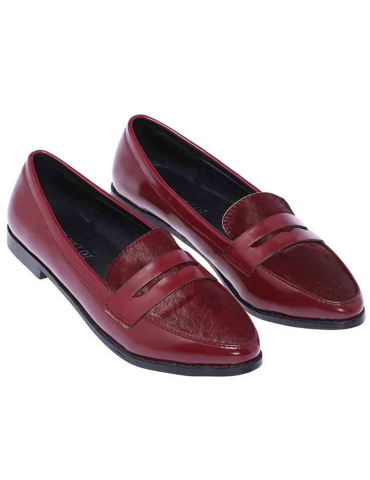 Red Low Heel PU Flat 31.33