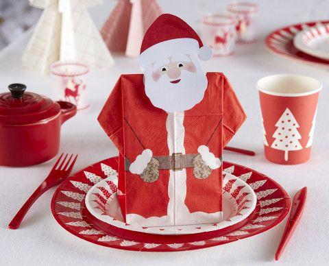Pour votre table de Noël - Personnalisez votre serviette Père Noël - Mesa Bella Blog