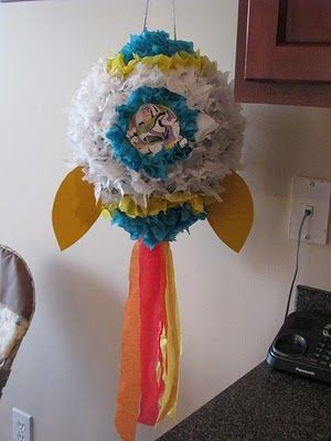 A Buzz Lightyear Party -  **homemade pinata that I can definitely do!