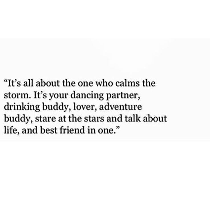 It's all about who calms your storm.