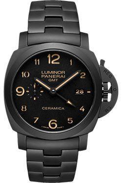 Panerai Contemporary Luminor 1950 Tuttonero Watches. 44mm black ceramic case, see-through sapphire crystal back, black ceramic bezel, black ceramic device protecting the crown, black dial with luminou