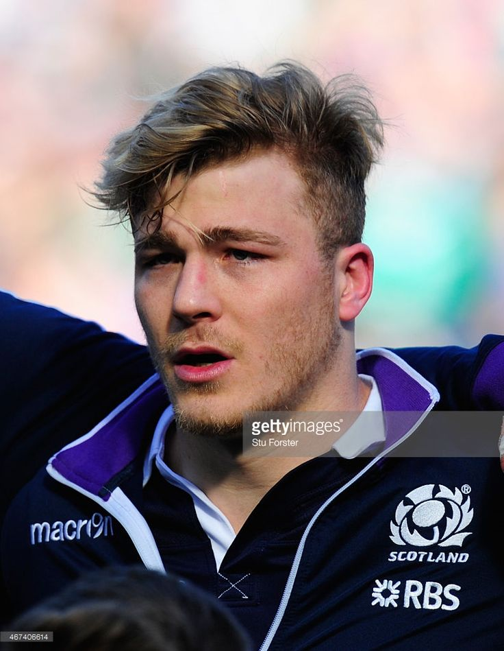 Scotland player David Denton pictured before the RBS Six Nations match between Scotland and Ireland at Murrayfield Stadium on March 21, 2015 in Edinburgh, Scotland.