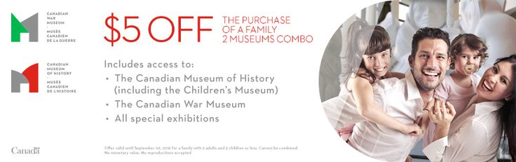 Canadian Museum of History coupon - $5 OFF
