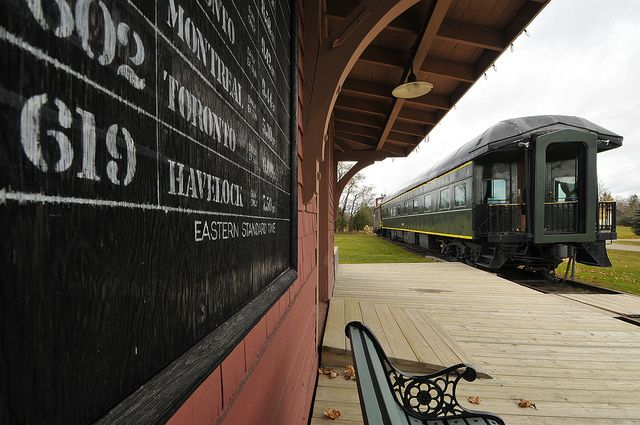 Vintage railway station and train at the Markham Museum in Ontario, Canada. A popular spot for #weddings in the GTA.