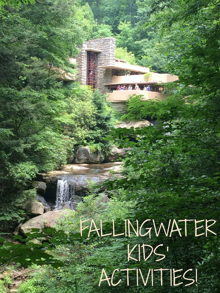 Fallingwater architecture activity for kids - Recommended by Iggy Peck,  Architect, book by Andrea