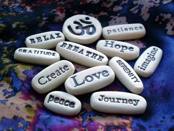 Any 12 Pocket Message Stones by spinningstarstudio on Etsy, $36.00