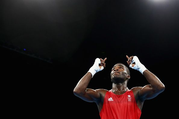 Joshua Buatsi win's a bronze medal in the men's light weight boxing at Rio 2016