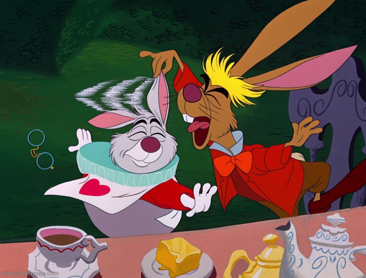 *WHITE RABBIT & THE MARCH HARE ~ Alice In Wonderland (1951)