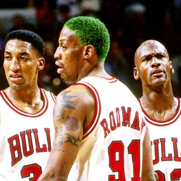 Una de las mejores combinaciones de toda la historia #NBA #Bulls #Jordan #Pippen #Rodman